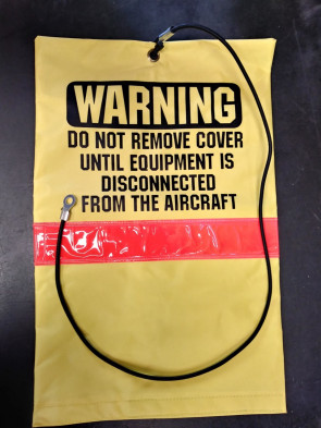 YELLOW WARNING SIGN, TONGUE-SOCK POLY WITH REFLECTIVE TAPE